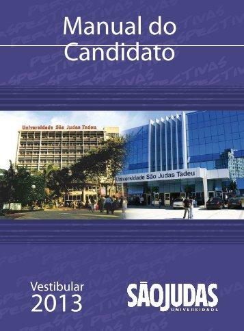 Manual do Candidato 2013 - Universidade São Judas Tadeu
