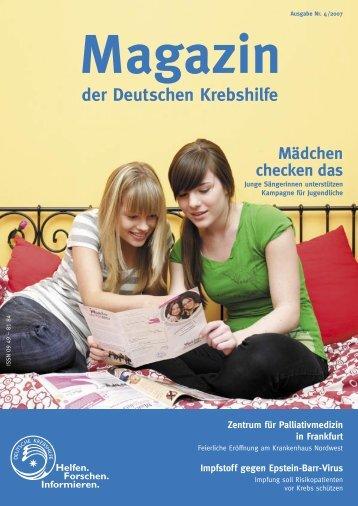 Mädchen checken das - Deutsche Krebshilfe eV