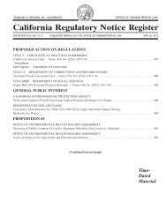 Register 2012, No. 21-Z, May 25, 2012 - Office of Administrative Law ...