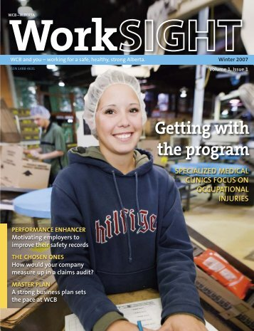 PDF: WCB WorkSIGHT Winter 2007 - Workers' Compensation Board