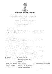 Causelist dt. 30-05-2013 - Supreme Court of India