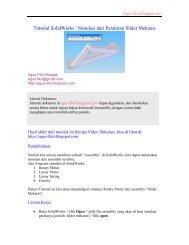 Tutorial SolidWorks : Simulasi dari Perakitan Slider Mekanis