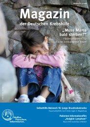 Diese Zeitschrift als PDF herunterladen - Deutsche Krebshilfe eV