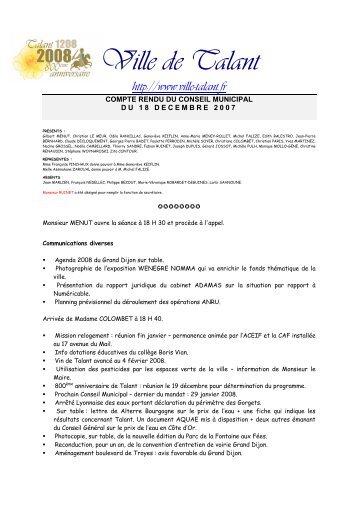 Compte Rendu du 18 décembre 2007 (0.17 Mo - pdf - fr) - La ville