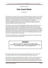 9. Toka Tawisî Melek - Das religiöse Gewand