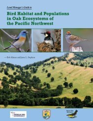 Oak Ecosystems in the Pacific Northwest - American Bird Conservancy
