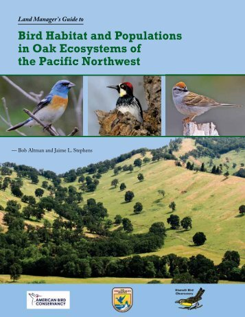 Oak Ecosystems in the Pacific Northwest - American Bird Conservancy