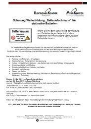 Einladung BT-Fachmann und Leitwertseminar 2011 - Elektropraktiker