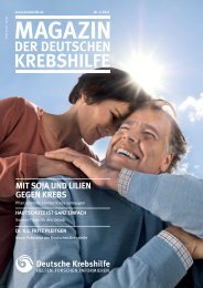 Mit Soja uNd LiLieN gegeN KrebS - Deutsche Krebshilfe eV