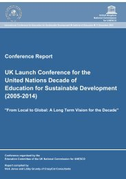 UK DESD Launch Conference report - UK National Commission for ...
