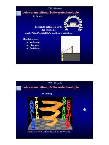 Lehrveranstaltung Softwaretechnologie - Lehrstuhl für Softwaretechnik