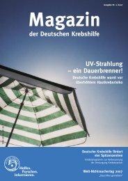 UV-Strahlung – ein Dauerbrenner! - Deutsche Krebshilfe eV