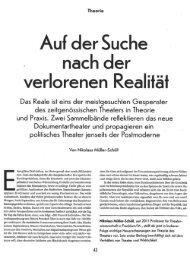 verlorenen Realiläl - Rimini Protokoll