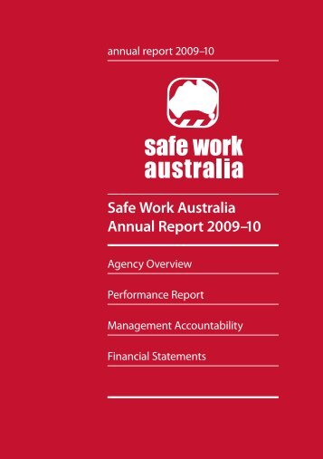 Safe Work Australia Annual Report 2009–10