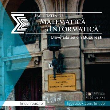 Facultatea de Matematică şi Informatică - CIOCP