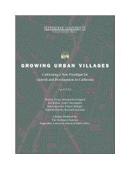 growing urban villages - Pepperdine University School of Public Policy