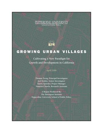 growing urban villages - Pepperdine University School of Public Policy