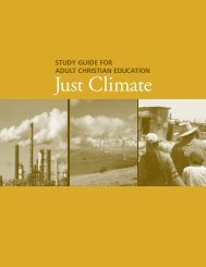 Just Climate: Study guide for adult Christian education - About Us