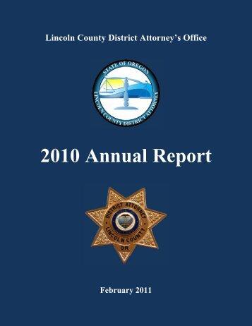 2010 Annual Report - Lincoln County, Oregon