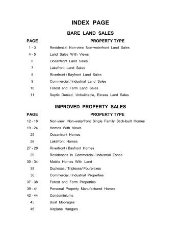 2013 Sales Listings - Lincoln County, Oregon