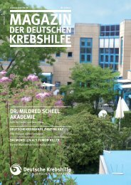 DR. MILDRED SCHEEL AKADEMIE - Deutsche Krebshilfe eV