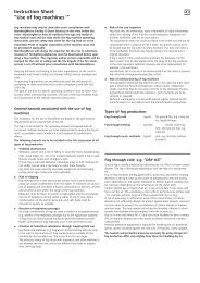 "Instruction Sheet ""Use of fog machines1"" - embedded world"
