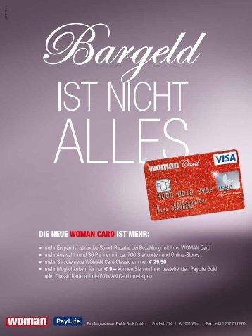 Die neue Woman card ist mehr: