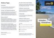 Urlaubs- Checkliste - Raiffeisen