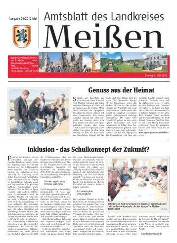 Amtsblatt 05/2012 vom 04.05.2012 [Download ... - Landkreis Meißen