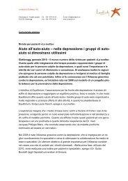 Aiuto all'auto-aiuto – nella depressione i gruppi di ... - Depression.ch