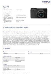 Produktový katalog - Olympus