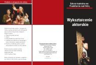 Wykształcenie aktorskie - Schauspielschule Frankfurt
