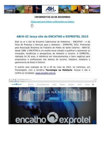INFORMATIVO 20 DE NOVEMBRO