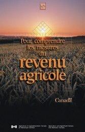 Pour comprendre les mesures du revenu agricole - Agriculture et ...