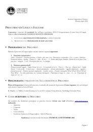 Lingua Inglese - Servizio linguistico (SeLdA)