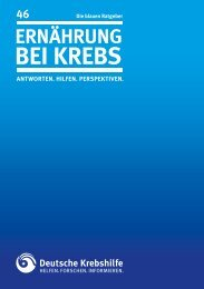 """blaue Ratgeber """"Ernährung bei Krebs"""" - Deutsche Krebshilfe eV"""