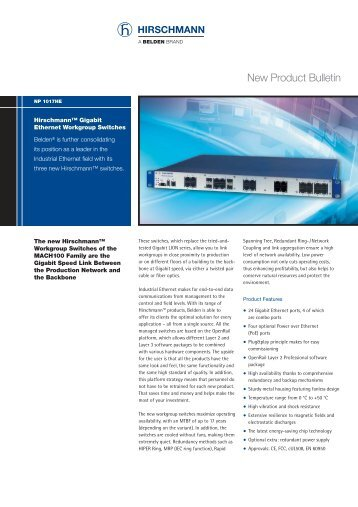 New Product Bulletin - Wired & Wireless Solutions International
