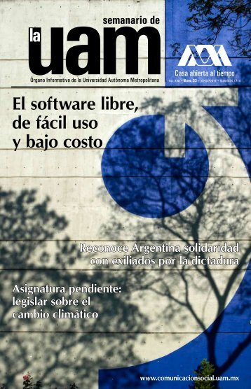 El software libre, de fácil uso y bajo costo - UAM. Comunicación Social
