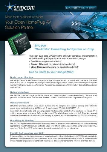 SPC300 SoC Product Brief - SPiDCOM Technologies