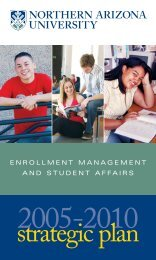 enrollment management and student affairs - www4 - Northern ...