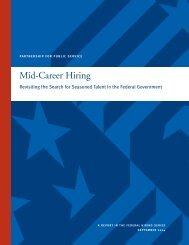 Mid-Career Hiring - Partnership for Public Service