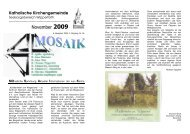 MOSAIK November 2009 - Katholisch-in-wipperfuerth.de