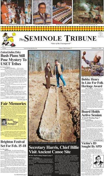 February 9 - Seminole Tribe of Florida