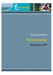 Surf Coast Shire Rural Strategy Review (2007)