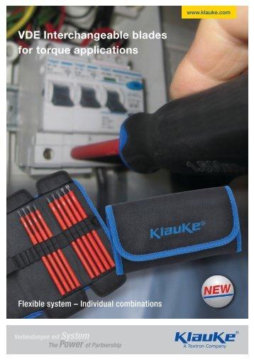 VDE Interchangeable blades for torque applications - Gustav Klauke ...