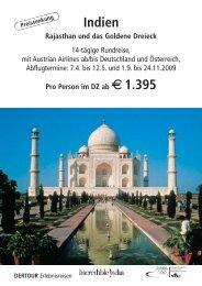 Indien - Rajasthan und das goldene Dreieck - COR-REISEN.DE