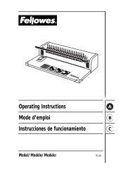 PB100 Manual - Fellowes