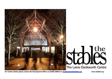 to download the Conferences & Events Pack - The Stables