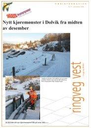 Nytt kjøremønster i Dolvik fra midten av desember - Statens vegvesen