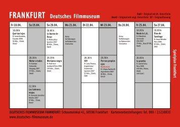 Spielpläne (76 kb) - Filmtage Tübingen